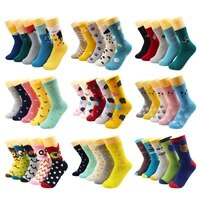 510 pairs harajuku hip hop animal print cotton women socks fashion korean kawaii cute cartoon cat dog duck girl socks