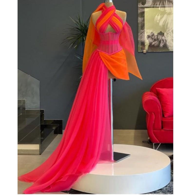 فستان حفلة موسيقية مثير ، صورة حقيقية ، مزيج الألوان ، جسم غير متماثل ، قصير ، فساتين رسمية ، فستان صيفي نسائي ، مجموعة جديدة