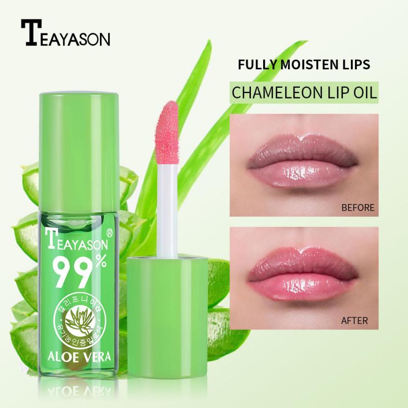 Lápiz labial de Aloe vera, 1 Uds., 99% Natural, cambia de Color, muestra de agua, hidratación brillante, nutritivo, brillo de labios duradero, bálsamo labial TSLM1