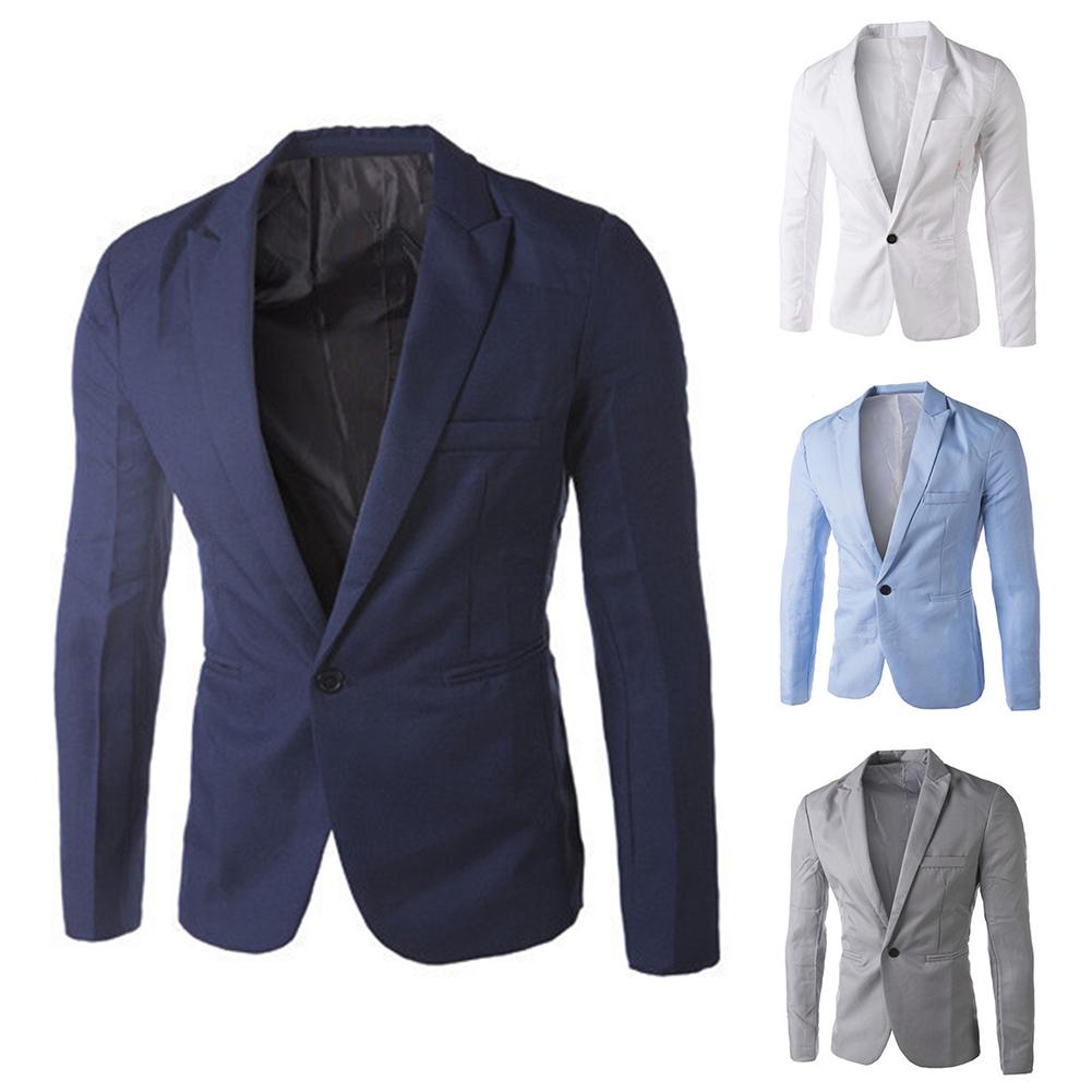 Autumn Men's Blazer Suit 8 colors male Blazer Suits business Jackets Coat Fashionable white/black/gr