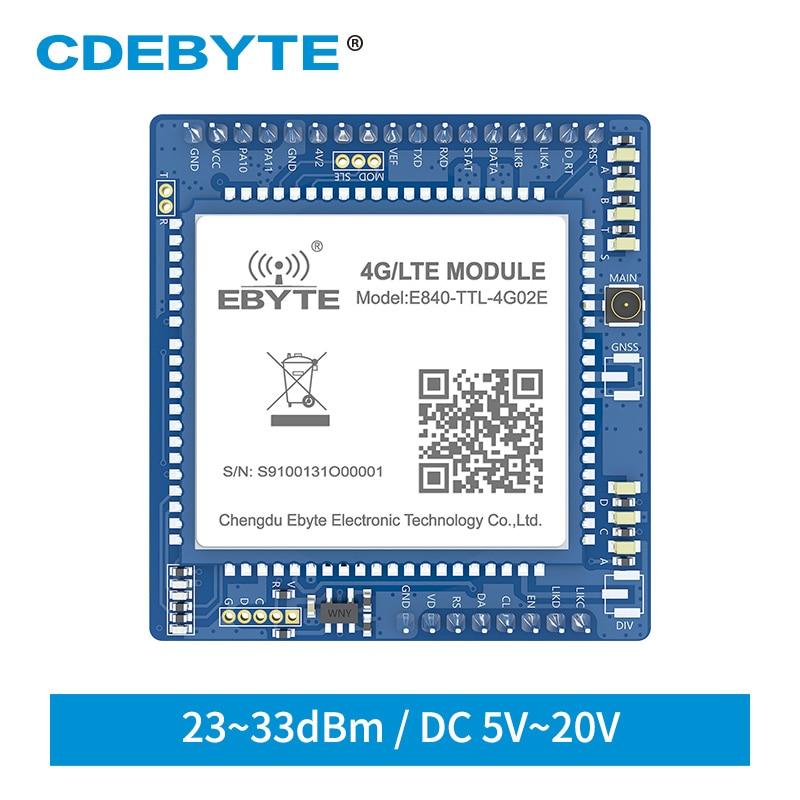UART 33dBm المنفذ التسلسلي الخادم 4G LTE GSM اللاسلكية الإرسال والاستقبال مودم IPX واجهة E840-TTL-4G02 CDEBYTE
