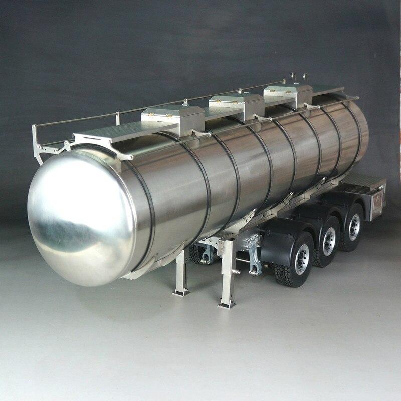 Marco de coche modelo de Tractor Tamiya completamente de Metal 1/14, depósito de combustible para remolque de transporte de líquidos, accesorios