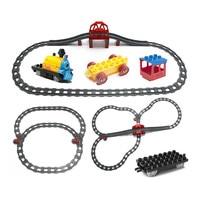 Funny Train Building Blocks Accessories Electric Train Track Railway Set Assembling Parts Kids DIY Toys Compatible