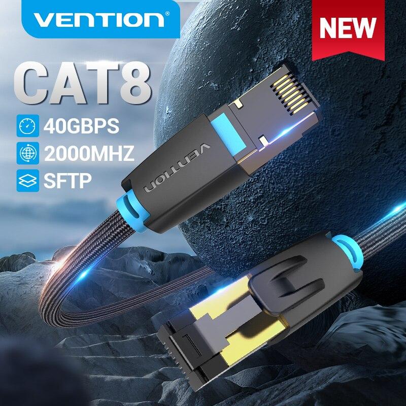 Tions Cat8 Ethernet Kabel 40Gbps Katze 8 Netzwerk Nylon Geflochtene Internet Lan Patchkabel für Router Modem PC RJ 45 Ethernet Kabel