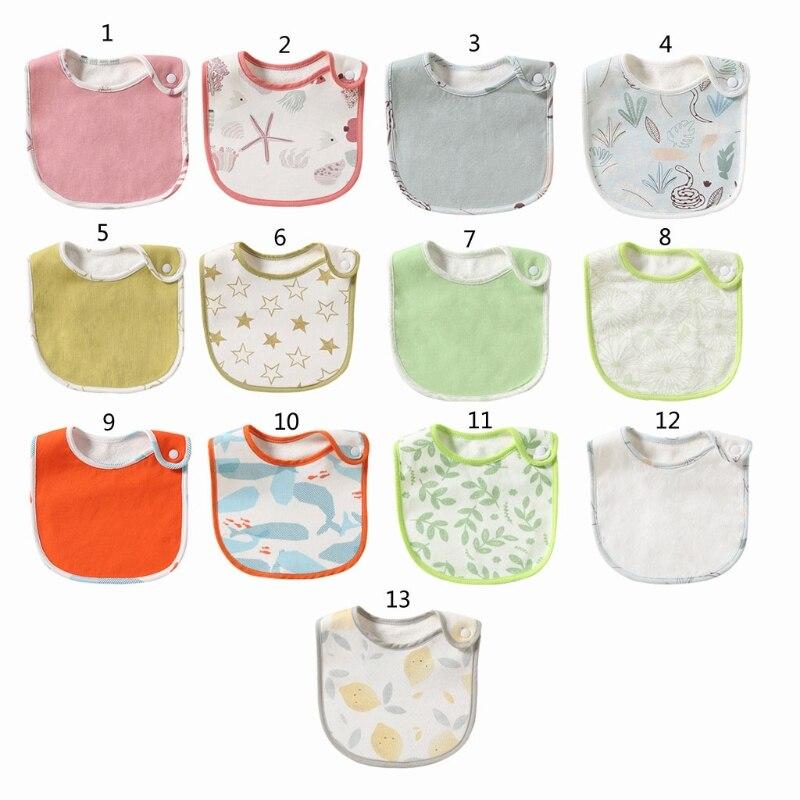 Для новорожденных детские нагрудники Водонепроницаемый вытирания слюней младенцев Полотенца шарф для младенцев Слюнявчики передник для к...