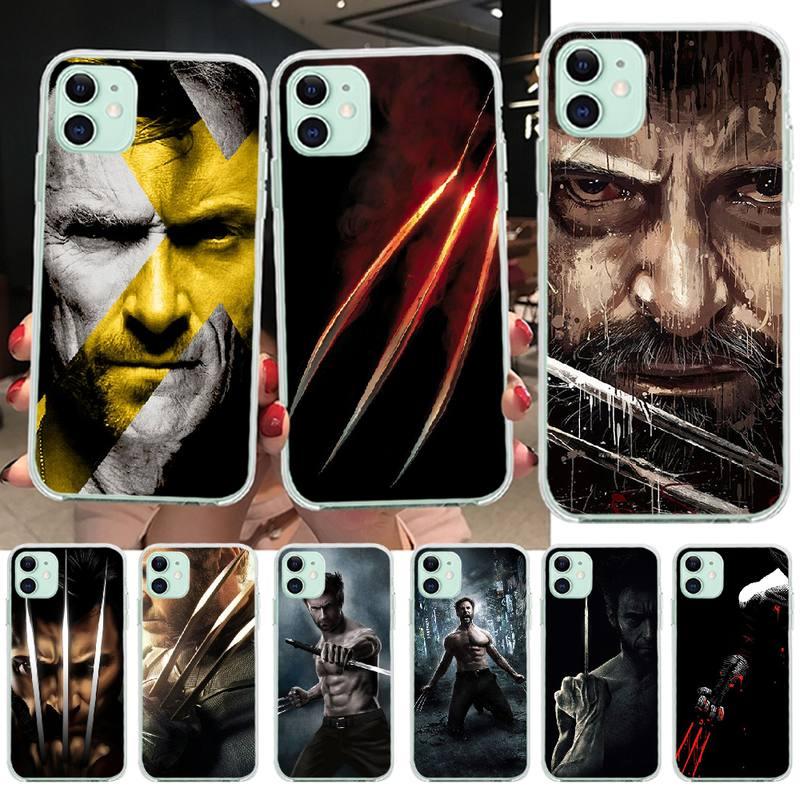 NBDRUICAI X hombres Wolverine personalizado foto funda de teléfono suave para iPhone 11 pro XS MAX 8 7 6 6S Plus X 5S SE XR cubierta