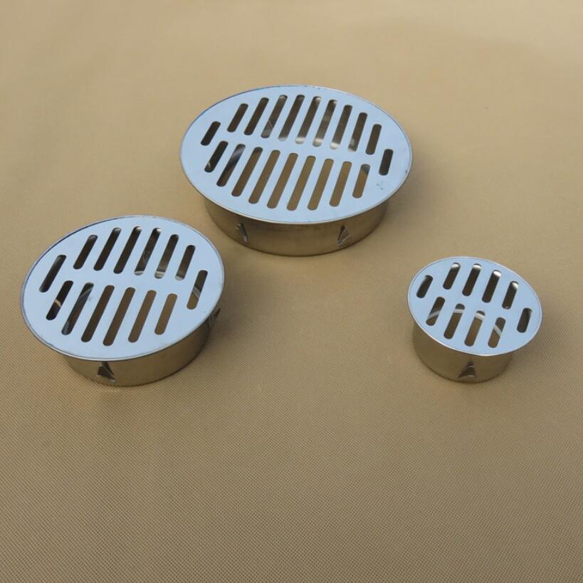 304 Stainless steel balcony roof round large displacement anti-blocking floor drain outdoor Plane Insertion Floor Drain