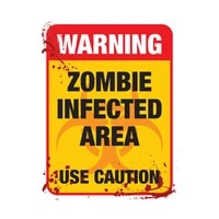 s40742 various sizes self adhesive decal warning zombie infected car sticker waterproof auto decors on bumper rear window