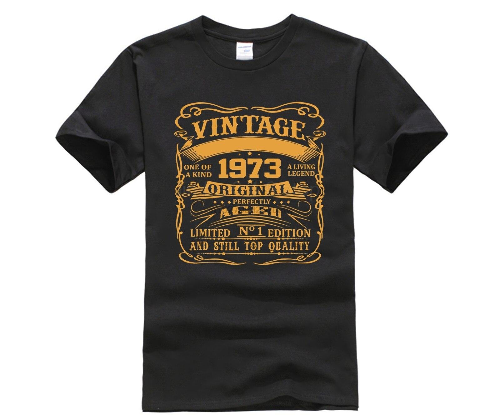 Camiseta GeT-Vintage Agosto-1973 GifT-45th cumpleaños perfectamente envejecido