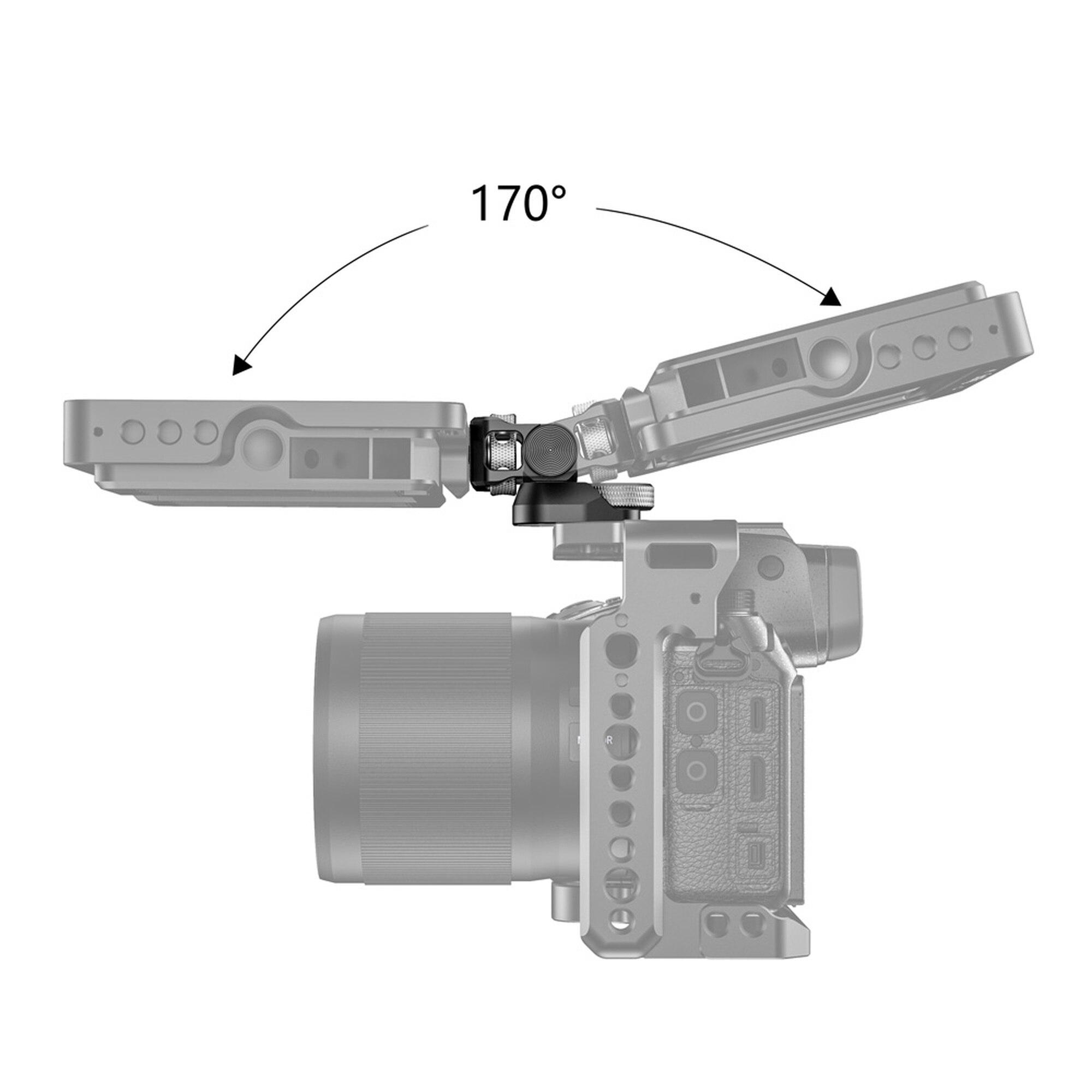 SmallRig Swivel 170 Degree & Tilt 360 Degree Monitor Mount with Arri Locating Pins Microphone Bracket Camera EVF Mount BSE2348 enlarge