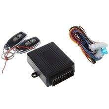 Universal 12V Kit Central remoto de coche cerradura de la puerta de bloqueo vehículo sistema de entrada sin llave 433,92 MHz alarma accesorios de coche