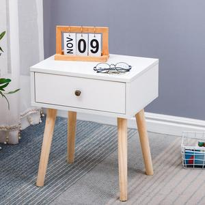 Solid Wood Nightstands Nordic Minimalist Bedside Table With Drawer Storage Cabinet Small Apartment Bedroom Bedside Table HWC