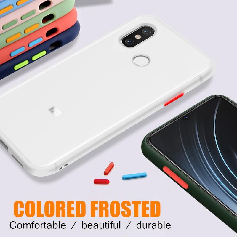 Carcasa protectora para teléfono rojo mi Note 8 8T 7 6 4 4X K20 Pro 8A 7A, carcasa de lujo con contraste de Color para Xiaomi mi 9 Lite 9T CC9 CC9E Note 10
