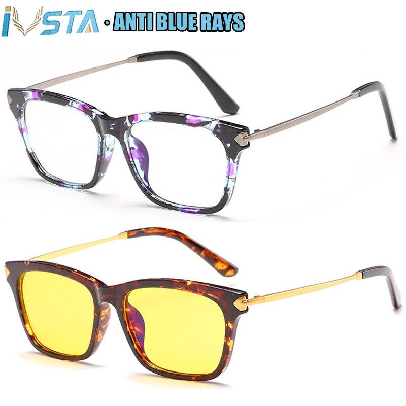 IVSTA TR90 Eyeglasses Frame Women Anti Blue Light Glasses Myopia Optical Cat Eye Spectacle Frames Prescription Retro Vintage