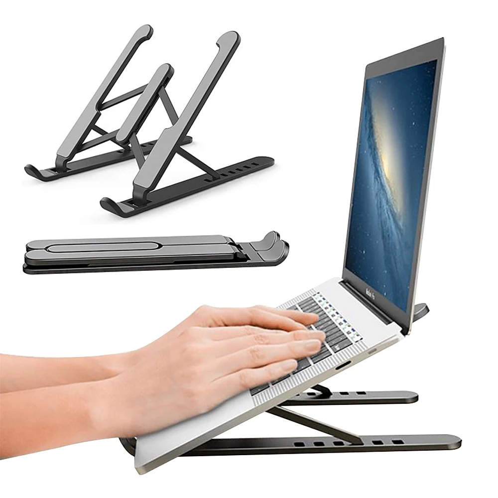 2021 Portable Non-Slip Laptop Stand For Macbook Pro Air Support Base Notebook Stand  For PC Computer
