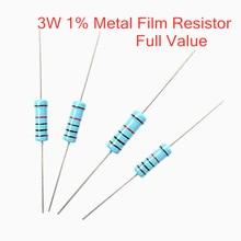 3 10pcs Valor Total 1% W Metal film resistor 1R ~ 1M 1R 4.7R 10R 22R 33R 47R 10 1K 4.7K K 100K 1 4.7 10 22 33 47 4K7 ohm