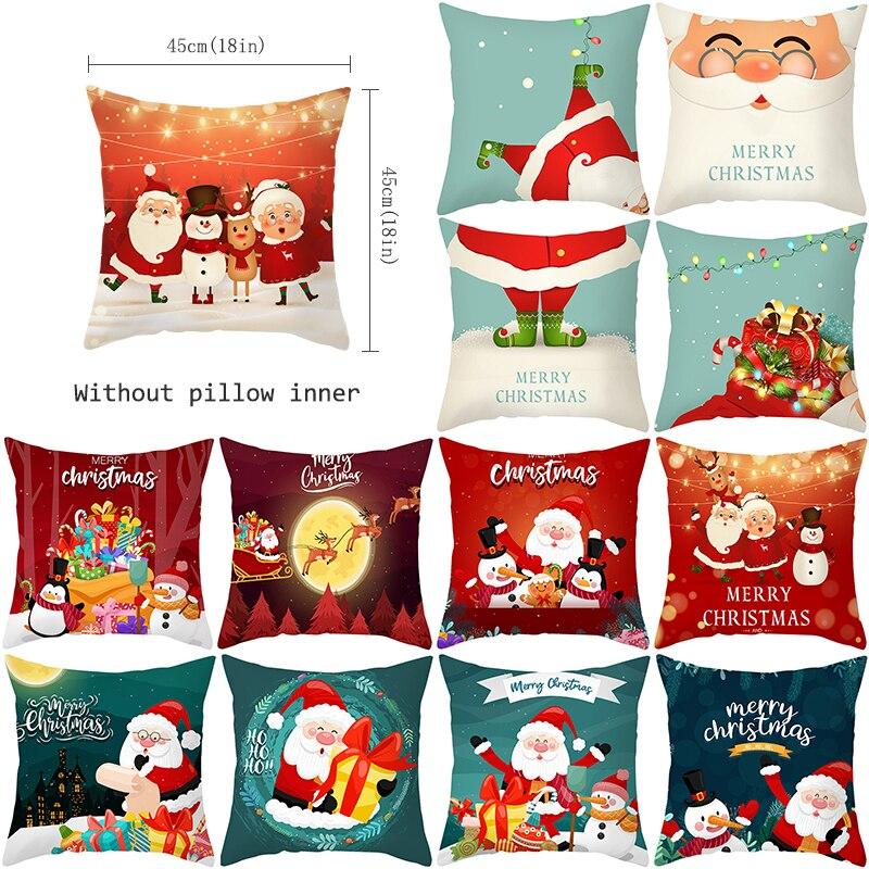 عيد الميلاد غطاء الوسادة غطاء وسادة لديكور المنزل ل أريكة سانتا كروز رمي الوسائد غرف معيشة الداخلية شخصية هدية