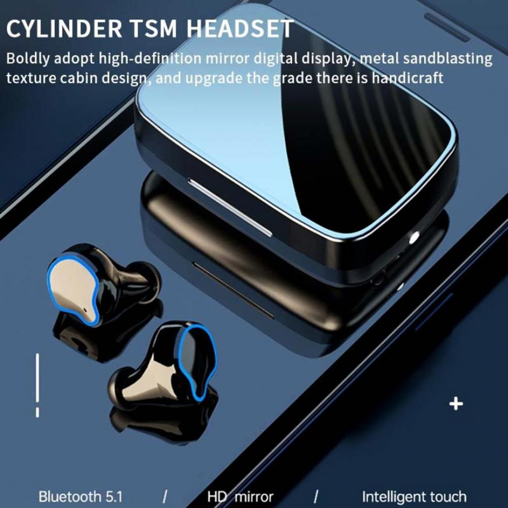 HOT SALES!!! M9 TWS Wireless Bluetooth 5.1 Touch Control In-Ear Earphone with Power Display enlarge