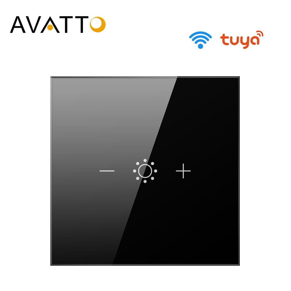AVATTO Tuya Led تعمل باللمس واي فاي باهتة مفتاح الإضاءة ، الذكية قطاع لمبة باهتة التبديل مع التطبيق ، صوت بعيد عن اليكسا ، جوجل المنزل