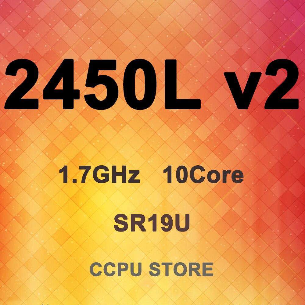 Intel Xeon 10 E5-2450L SR19U v2 1.7GHz Core 20 Rosca 25MB 60W LGA1356 Processador CPU
