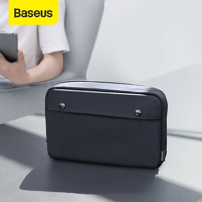 Baseus Portable Travel Accessories Storage Bag Electronic Gadgets Charger Cable Organizer Zip Bag Wa