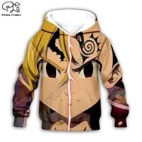 anime character pattern 3d hoodies zipper coat long sleeve pullover cartoon sweatshirt tracksuit hoodedpantsfamily t shirts