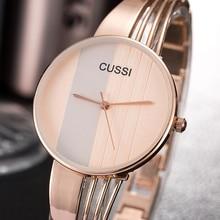 CUSSI reloj femenino de moda de oro rosa pulsera para mujer relojes de pulsera de lujo de acero inoxidable para mujer reloj de joyería para mujer