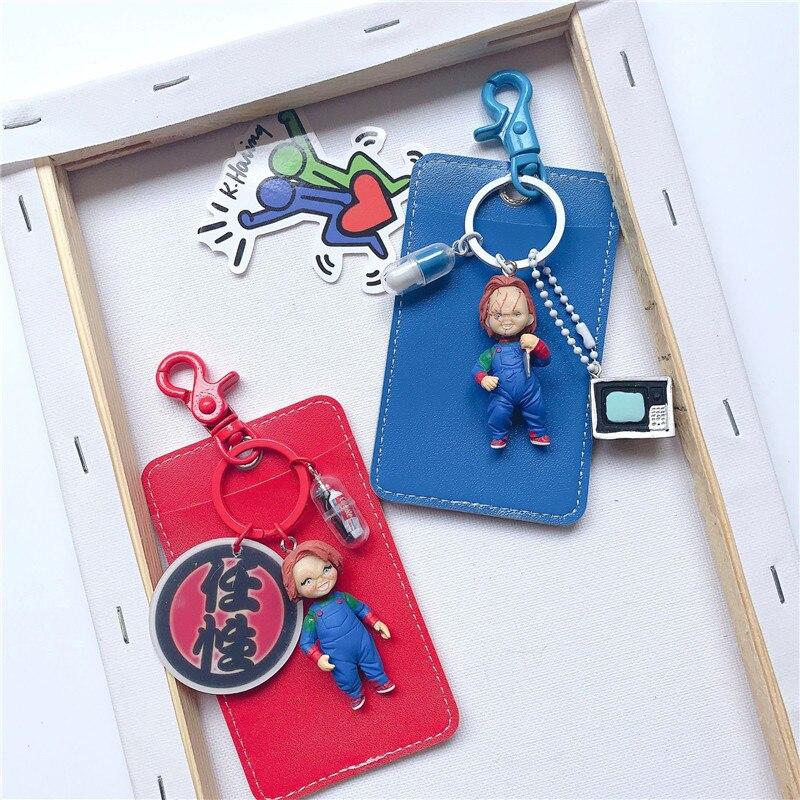 LLavero de figura muñeca de Horror de la novia de Chucky para juego de niños llaveros para mujeres bolso amuletos coche colgante decorativo joyería