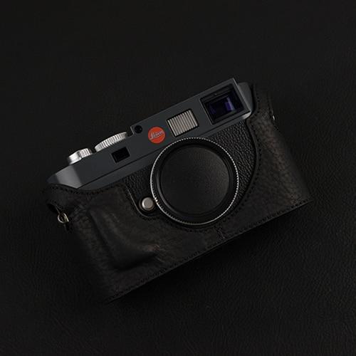 Diseño para Leica M8 / M9 / M9P M-E, hecho a mano, cuero genuino, cámara, Media funda