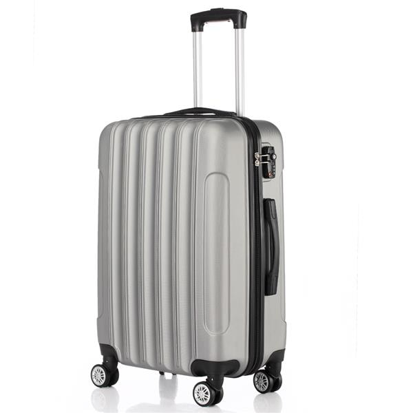3-in-1 Multifunctional Large Capacity Traveling Storage Suitcase Silver Gray Students Luggage Box Business Suitcase