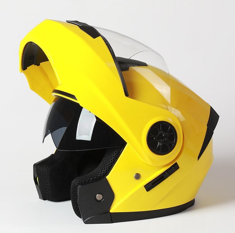2020 New Arrival Men Motorcycle Professional Racing Flip Up Helmet ABS Material Modular Dual Lens Helmets DOT Certification enlarge