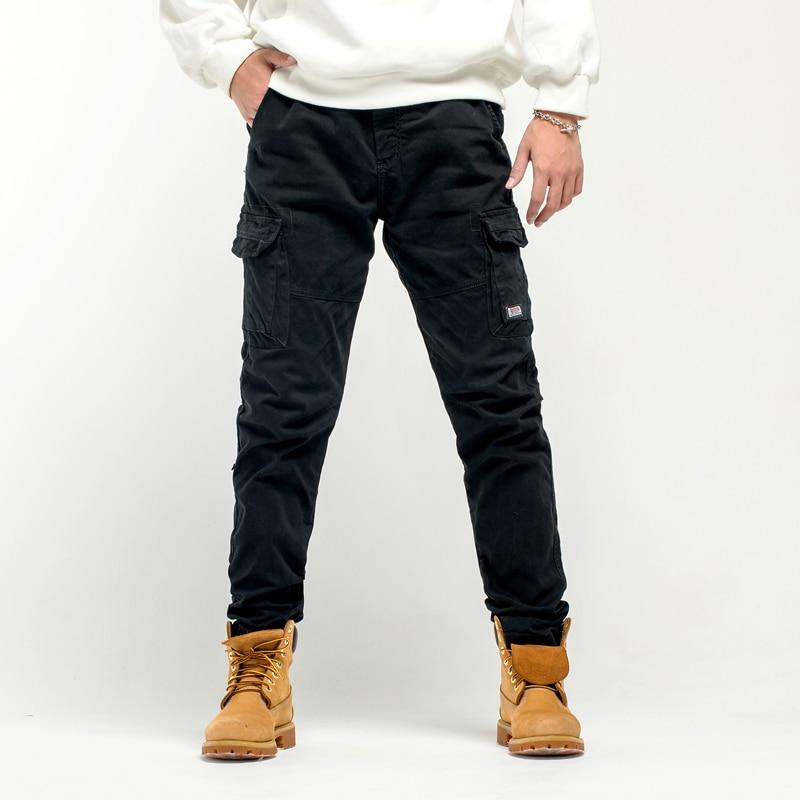 Мужские брюки-карго GlacialWhale, новые мужские брюки-карго 2021 года, мужские брюки в стиле хип-хоп, японская уличная одежда, брюки в стиле харадзюк...