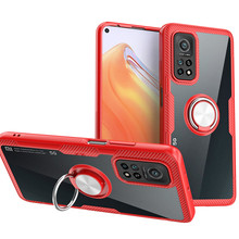 For Xiaomi Mi 10T Mi10T Pro Case Luxury Car Magnetic Ring Transparent Clear Glass Back Cover for Mi