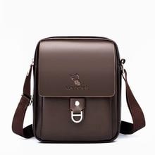 PU Leather Man Shoulder Bags Business Male Crossbody Bag Travel Shopping Shoulder Bags for Man Casua