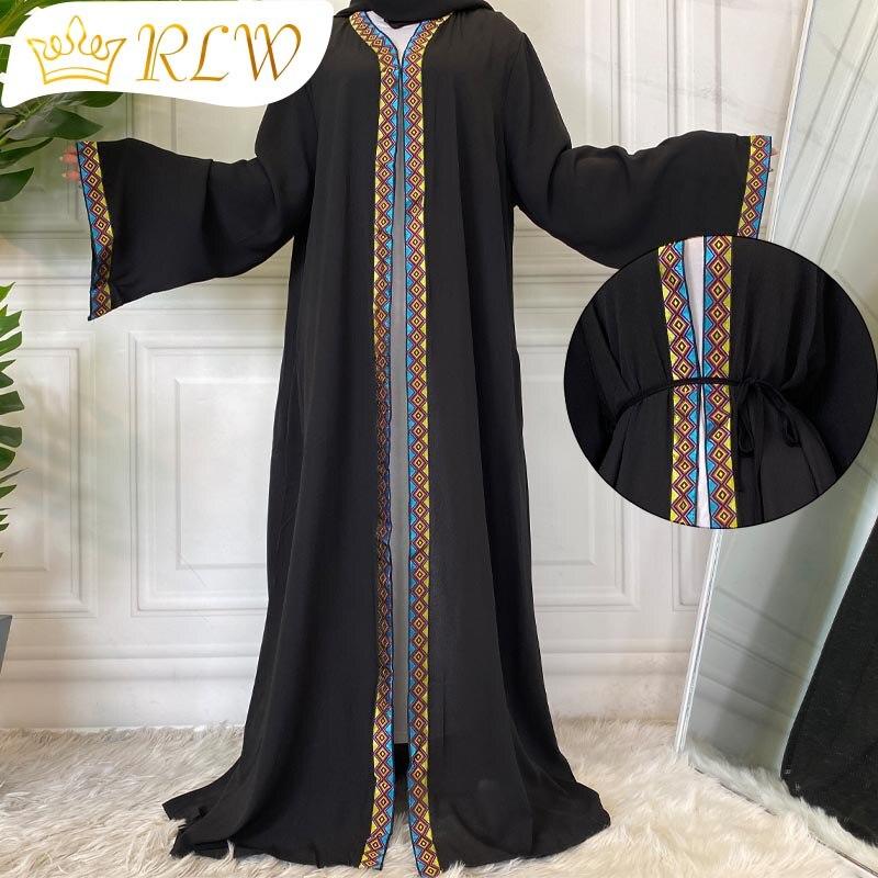 ملابس نسائية إسلامية فستان حجاب Khimar Abayas للنساء دبي ملابس محجبات تركية الهند فستان أسود عباية جلابيات عربية