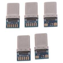 Connecteur USB 3.1 Type C 24 broches pour prise mâle et femelle, adaptateur de prise pour fils de soudure et câbles, Module de support PCB 24 P
