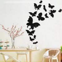 Stickers muraux 3D chambre enfant   Miroirs papillon  Stickers muraux  decoration de chambre fete mariage amovible  decoration de maison  autocollant mural