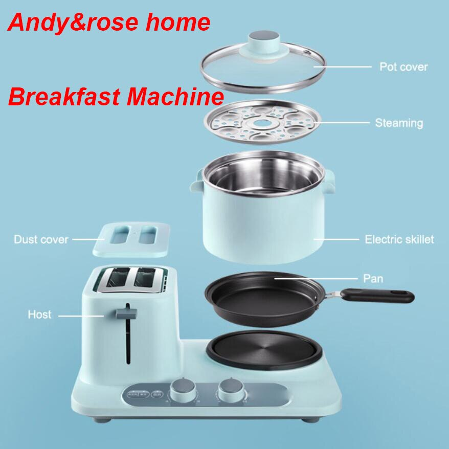 Olla de cocina portátil de 220V 1.2L en el hogar Mini cocina de arroz máquina de desayuno tostadora doméstica olla caliente eléctrica