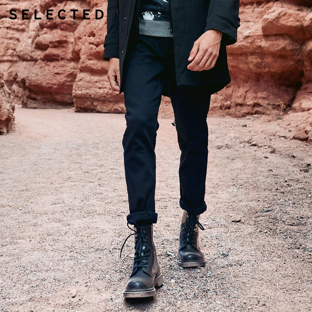 Select hommes automne et hiver coupe jean vêtements Stretch coton droit Denim pantalon C   418432526