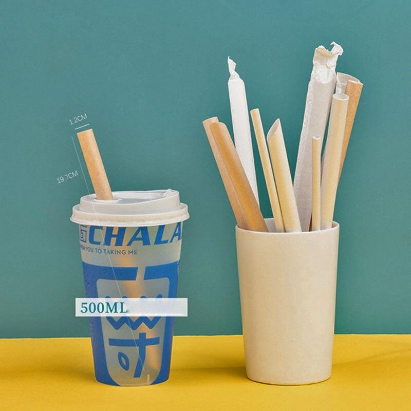 Одноразовые автономные упаковочные бумажные трубочки Rietjes 100 для молочного чая, кофе, биоразлагаемые трубочки для еды