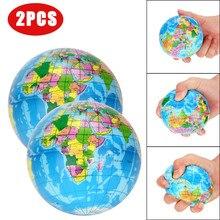 Squishy Stress Relief World Map Foam Bal Atlas Globe Palm Bal Planeet Aarde Bal Interactieve Rubberen Ballen Voor Kid Poopsie MM709