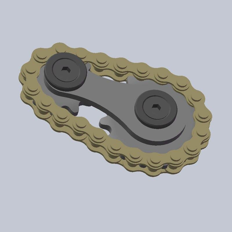 Stainless Steel Sprockets Flywheel Fingertip Gyro Sprockets Chains EDC Metal Toy Gear Gyro Drop Ship Sproket Roadbike Spinner enlarge