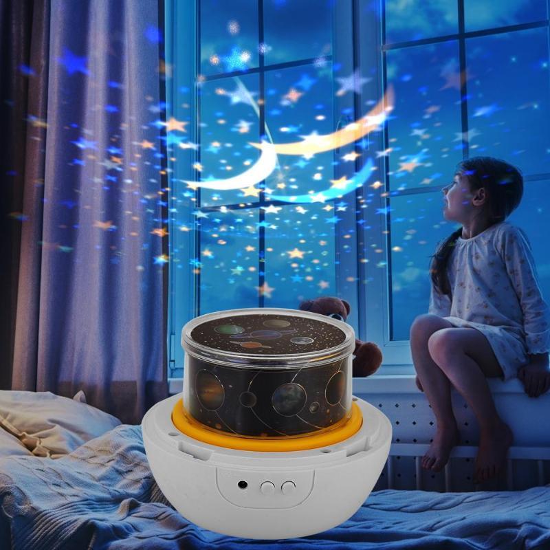 Starry Sky Nacht Licht Planet Erde Projektor LED Lampe Universum Bunte Drehen Blinkende Sterne LED Nacht Licht Kinder Schlafzimmer Dekor