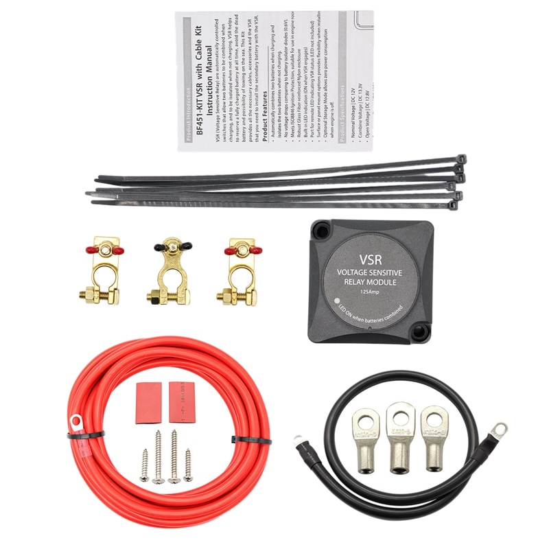 12 В 140A напряжение чувствительное реле набор автоматическое реле зарядки двойной батареи умный изолятор с проводкой комплект Keyline зарядные ...