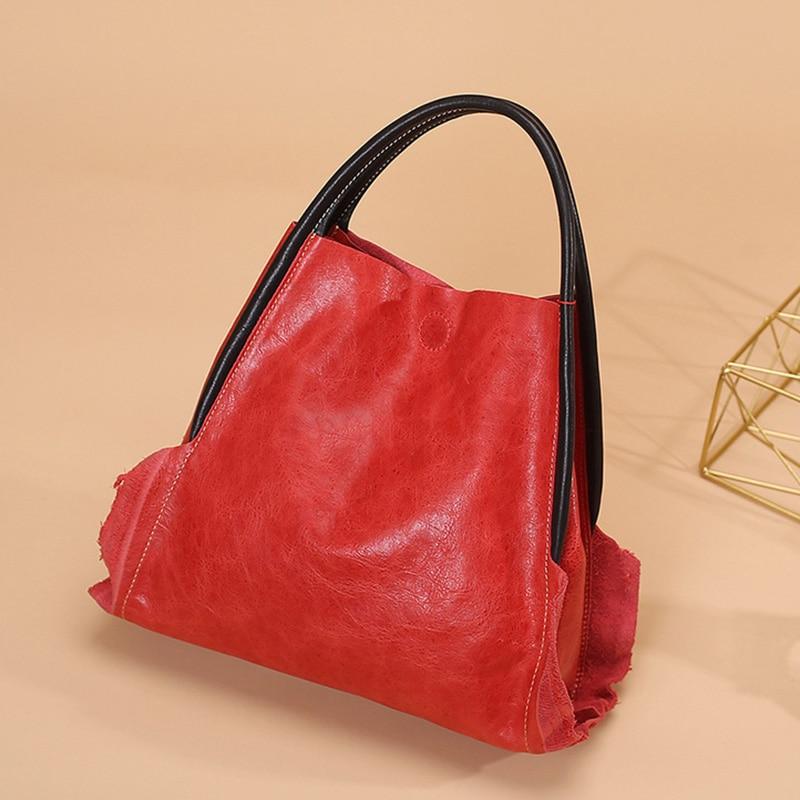 حقيبة يد نسائية من الجلد الطبيعي ، حقيبة حمل أنيقة من جلد البقر ، جودة عالية ، 2021