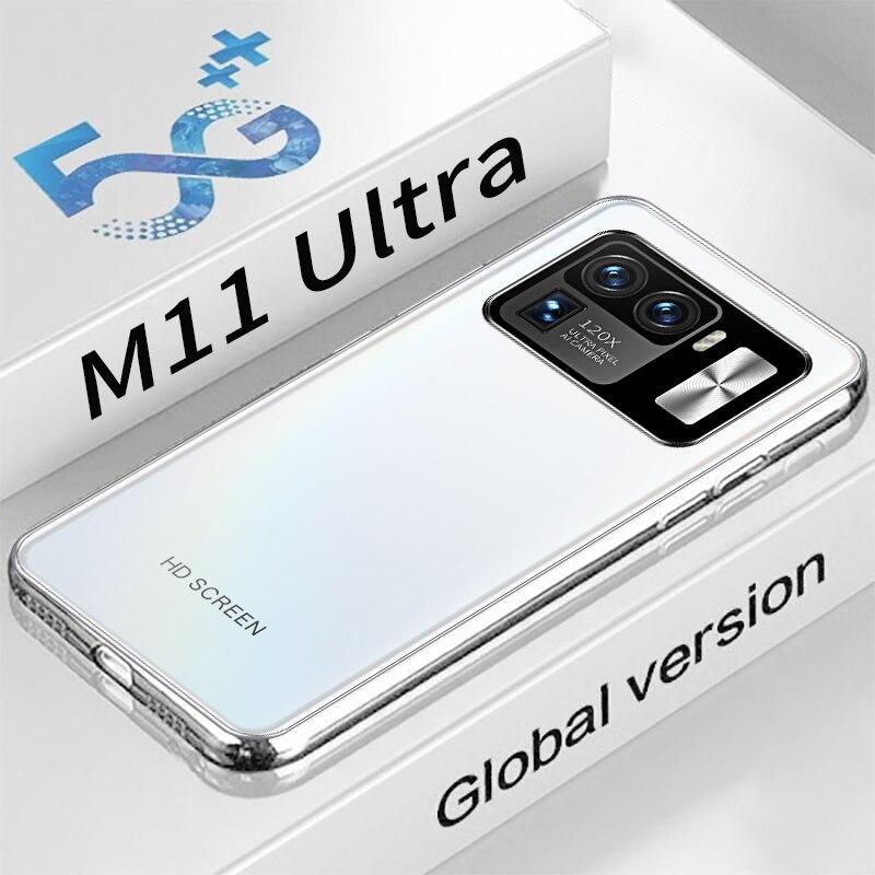 الإصدار العالمي 6.7 بوصة Mi 11 Ultra 5G أندرويد 11.0 MTK6889 10 Core 6800mAh Battrey 16 + 512GB 16MP + 32MP أحدث الهواتف الذكية المدرجة