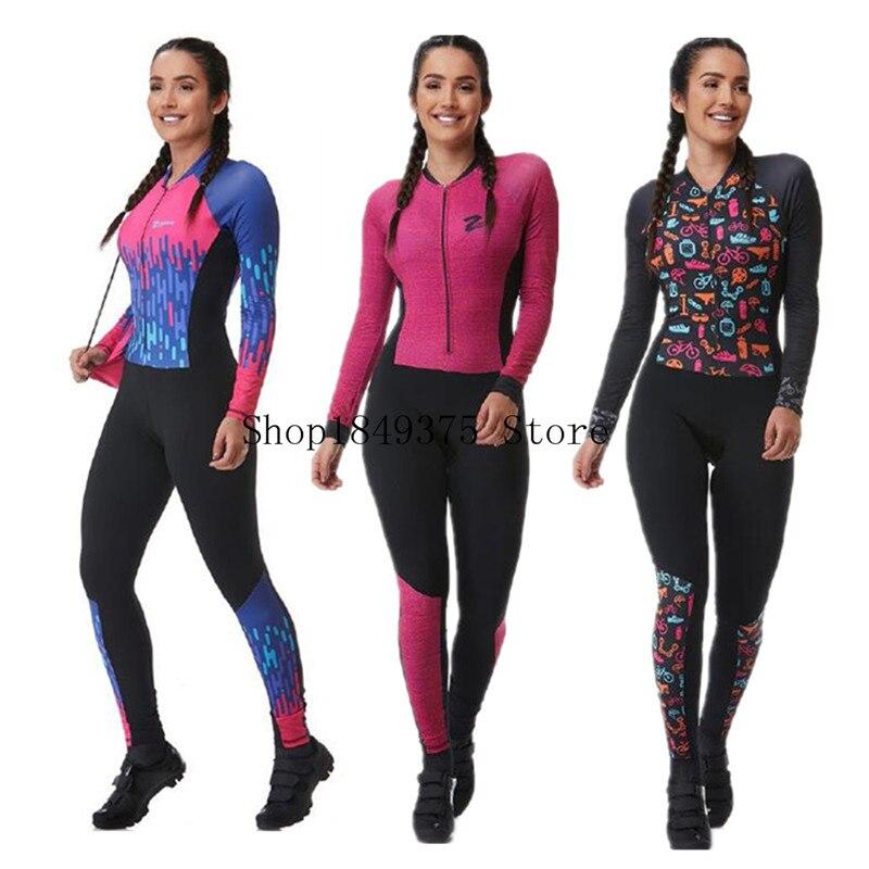 Триатлон skinsuit летние спортивные женские длинные штаны с длинным рукавом комплект Джерси для велоспорта roupa ciclismo feminina uniforme 2020