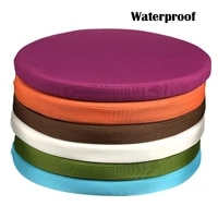 outdoor indoor seat cushion round waterproof furniture cushion with filling replacement deep seat cushion for patio chair bench