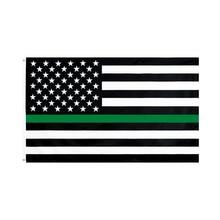 WN 60X90 90X150cm USA United States American Thin Green Line Flag