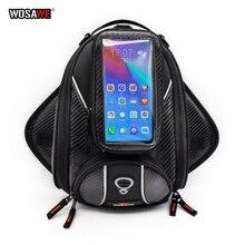 WOSAWE sacs de moto sac de réservoir magnétique support de téléphone de moto étui de téléphone portable pour moto support de moto pour iPhone X